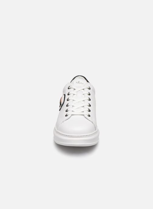 Sneaker KARL LAGERFELD Kapri Karl Ikonic Lo Lace 2 weiß schuhe getragen