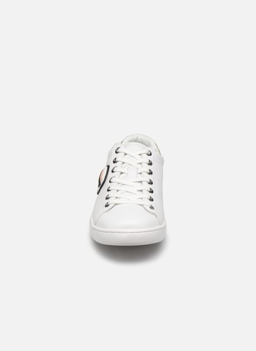 Baskets KARL LAGERFELD Kupsole II Karl Ikonic Lo Lace Blanc vue portées chaussures