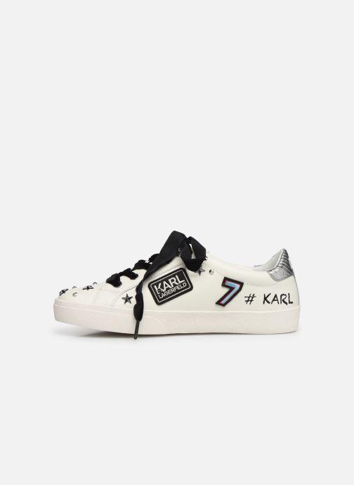 Baskets Karl Lagerfeld Skool Jewel Badge Lo Blanc vue face