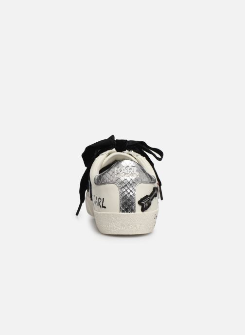 Baskets KARL LAGERFELD Skool Jewel Badge Lo Blanc vue droite