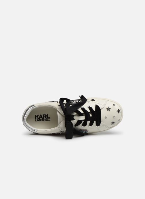 Baskets Karl Lagerfeld Skool Jewel Badge Lo Blanc vue gauche