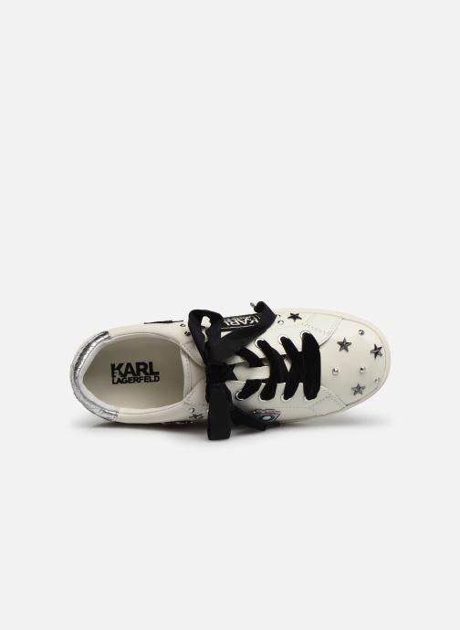 Sneakers KARL LAGERFELD Skool Jewel Badge Lo Wit links