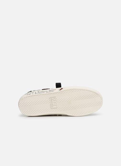 Baskets Karl Lagerfeld Skool Jewel Badge Lo Blanc vue haut