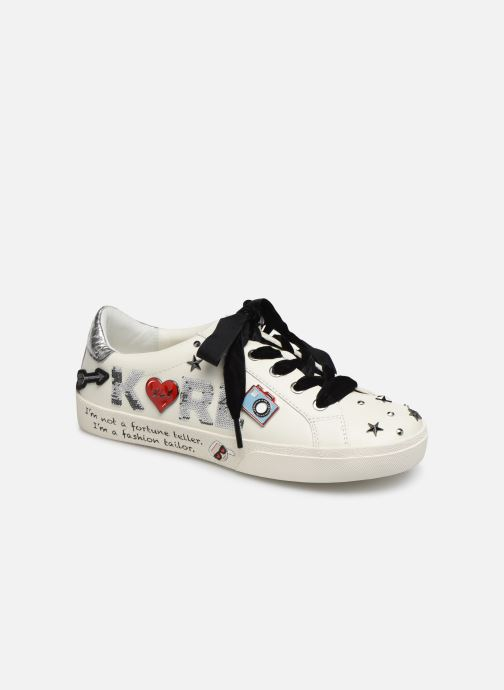Baskets KARL LAGERFELD Skool Jewel Badge Lo Blanc vue détail/paire