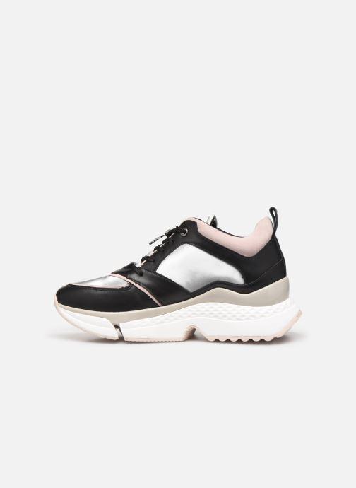 Baskets Karl Lagerfeld Aventur Lux Leather Lace Shoe Noir vue face