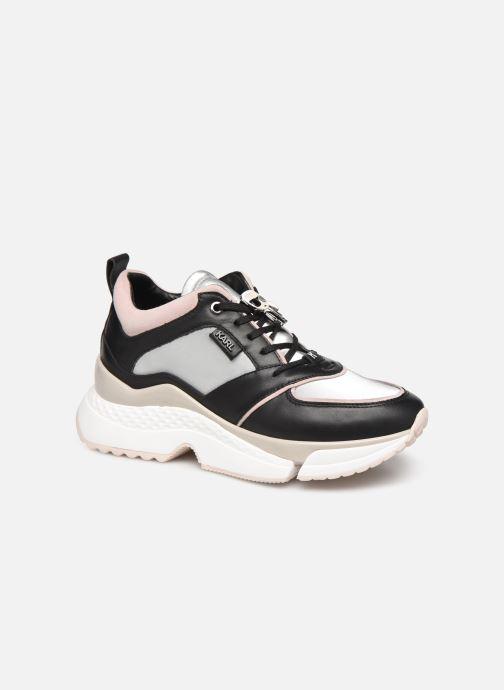 Baskets Karl Lagerfeld Aventur Lux Leather Lace Shoe Noir vue détail/paire