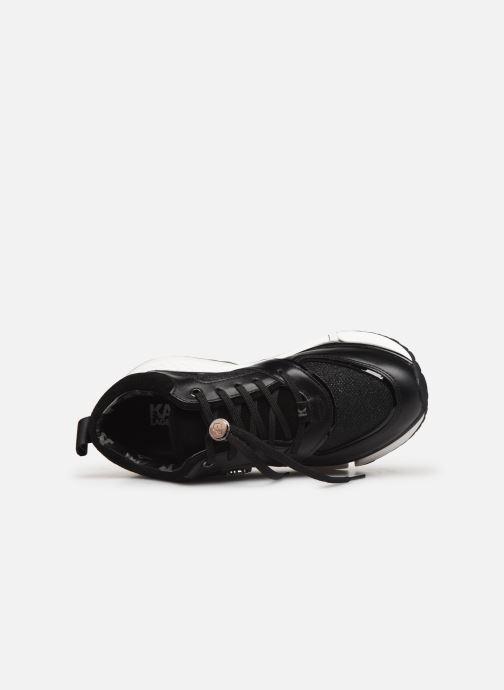 Baskets Karl Lagerfeld Aventur Lux Mix Lace Shoe Noir vue gauche