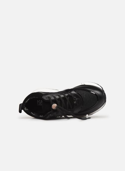 Sneakers Karl Lagerfeld Aventur Lux Mix Lace Shoe Nero immagine sinistra