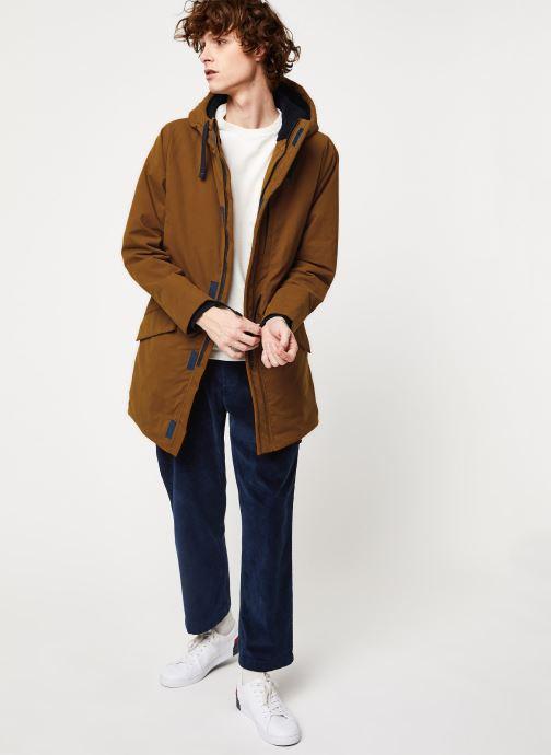 Vêtements Cuisse de Grenouille OUTERWEAR - PARKA Marron vue bas / vue portée sac