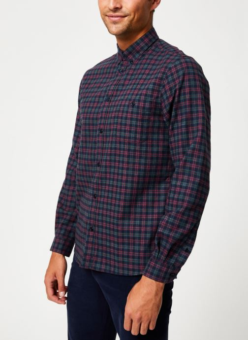 Tøj Cuisse de Grenouille SHIRT - BUTTON DOWN + POCKET Blå Se fra højre