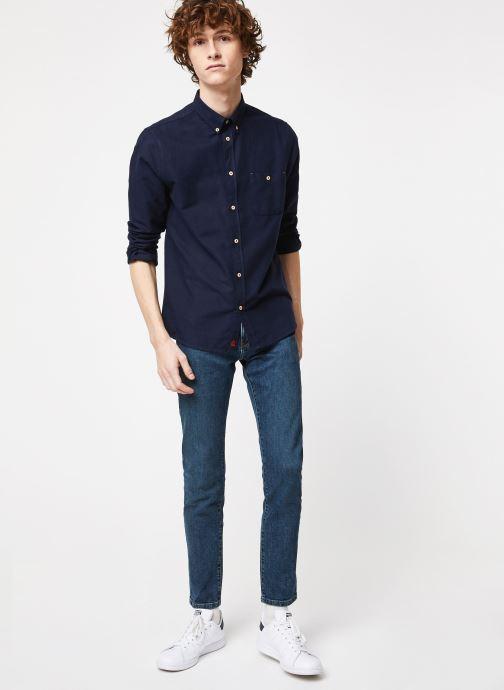 Vêtements Cuisse de Grenouille SHIRT - BUTTON DOWN + POCKET Bleu vue bas / vue portée sac