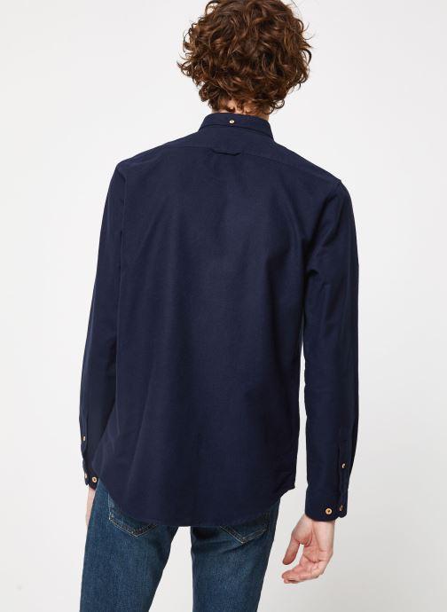 Vêtements Cuisse de Grenouille SHIRT - BUTTON DOWN + POCKET Bleu vue portées chaussures