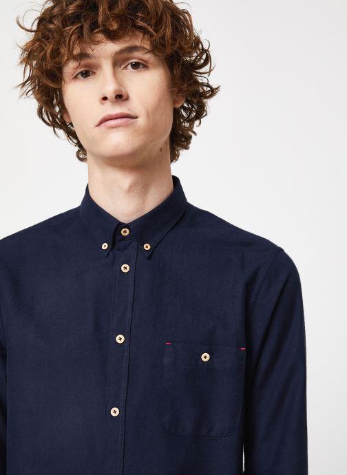 Vêtements Cuisse de Grenouille SHIRT - BUTTON DOWN + POCKET Bleu vue face