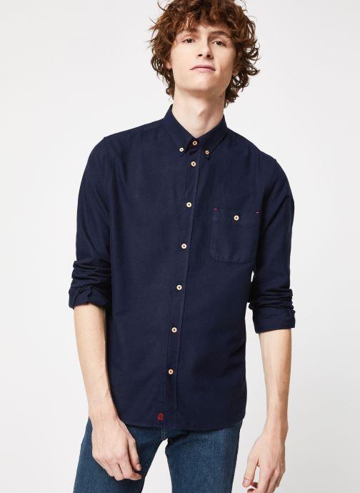 Vêtements Cuisse de Grenouille SHIRT - BUTTON DOWN + POCKET Bleu vue droite