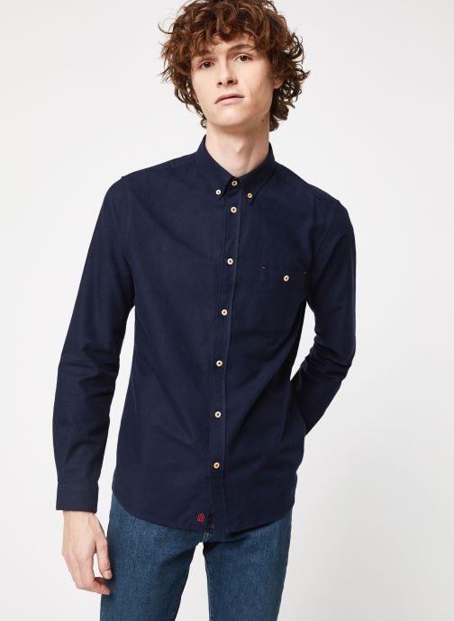 Vêtements Cuisse de Grenouille SHIRT - BUTTON DOWN + POCKET Bleu vue détail/paire