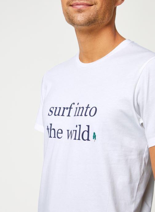 Vêtements Cuisse de Grenouille TEE-SHIRT - INTO THE WILD Blanc vue face