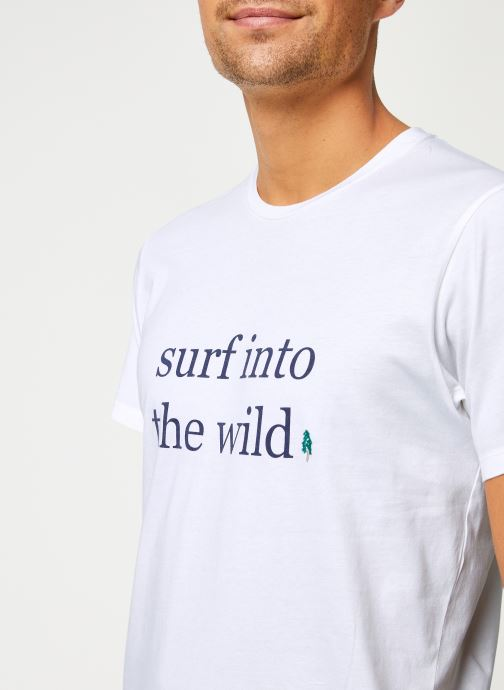 Kleding Cuisse de Grenouille TEE-SHIRT - INTO THE WILD Wit voorkant