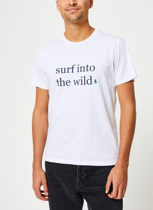Kleding Cuisse de Grenouille TEE-SHIRT - INTO THE WILD Wit rechts