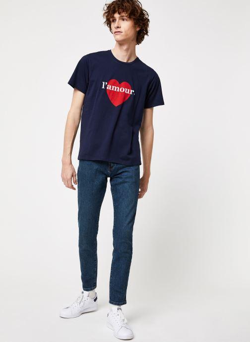 Vêtements Cuisse de Grenouille TEE-SHIRT - L'AMOUR Bleu vue bas / vue portée sac