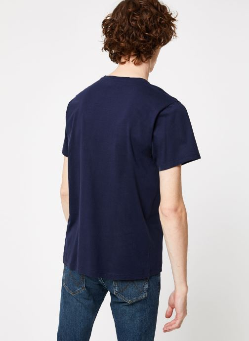Vêtements Cuisse de Grenouille TEE-SHIRT - L'AMOUR Bleu vue portées chaussures