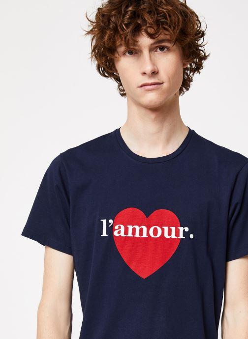 Vêtements Cuisse de Grenouille TEE-SHIRT - L'AMOUR Bleu vue face