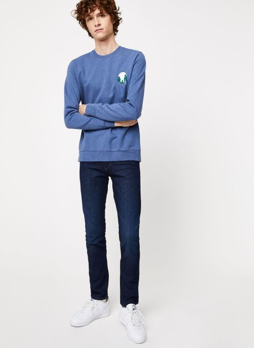 Vêtements Cuisse de Grenouille SWEATSHIRT - FIR TREE AND SUN Bleu vue bas / vue portée sac