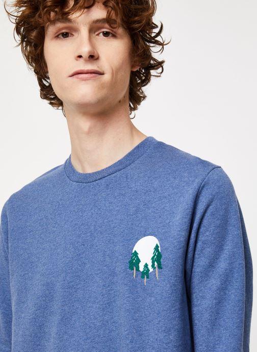 Vêtements Cuisse de Grenouille SWEATSHIRT - FIR TREE AND SUN Bleu vue face