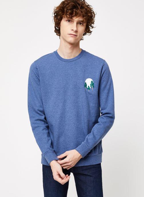 Vêtements Cuisse de Grenouille SWEATSHIRT - FIR TREE AND SUN Bleu vue droite