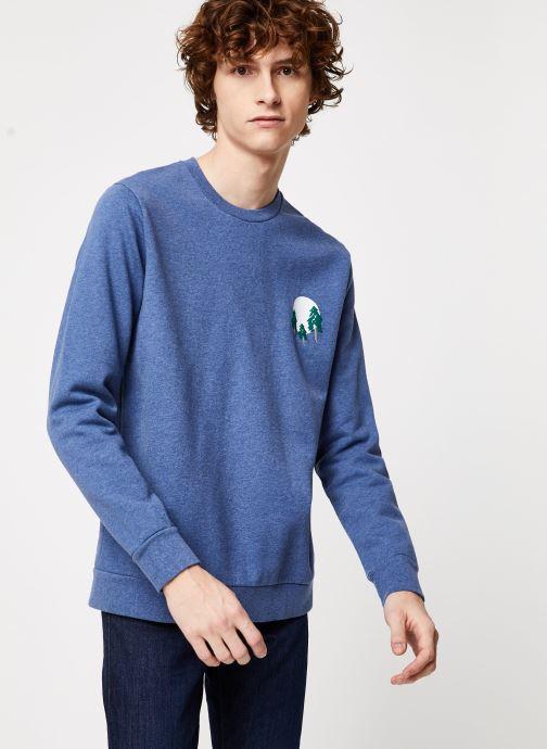 Vêtements Cuisse de Grenouille SWEATSHIRT - FIR TREE AND SUN Bleu vue détail/paire