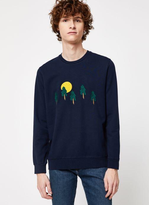 Vêtements Cuisse de Grenouille SWEAT - FIR TREE FOREST Bleu vue droite