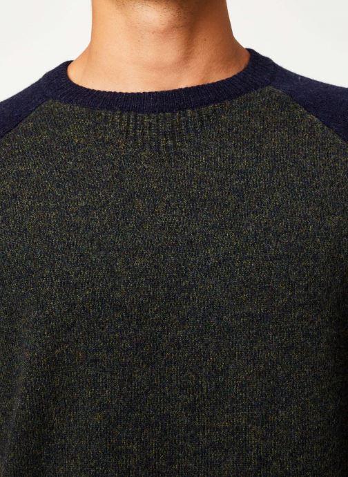 Vêtements Cuisse de Grenouille KNIT SWEATER - BICOLOR Vert vue face