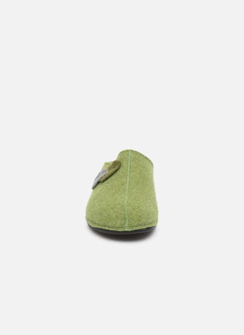 Pantuflas Romika Adelide 02 Verde vista del modelo