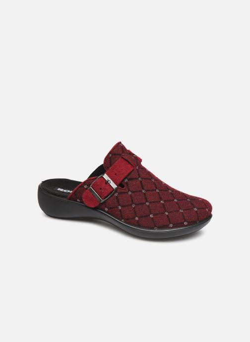Hjemmesko Romika Ibiza Home 307 Rød detaljeret billede af skoene