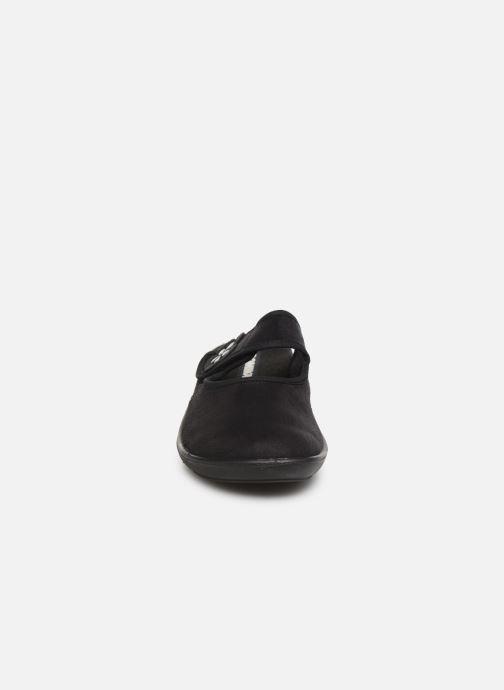 Hausschuhe Romika Ibiza Home 308 schwarz schuhe getragen