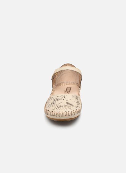 Ballerines Pikolinos P. Vallarta 655 Beige vue portées chaussures