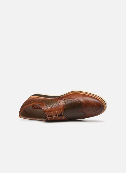 Zapatos con cordones Pikolinos Toulouse M Stand M7L-4227 Marrón vista lateral izquierda
