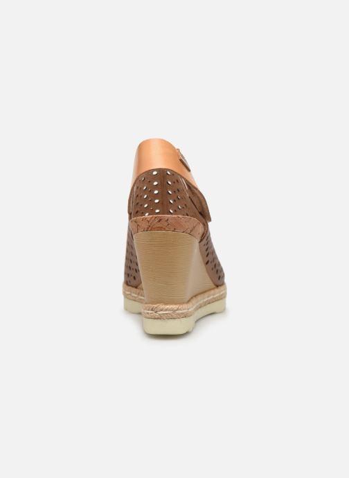 Sandales et nu-pieds Pikolinos Bali W3L-0922CL Marron vue droite