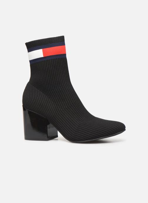 Boots en enkellaarsjes Tommy Hilfiger FLAG SOCK MID HEEL BOOT Zwart achterkant