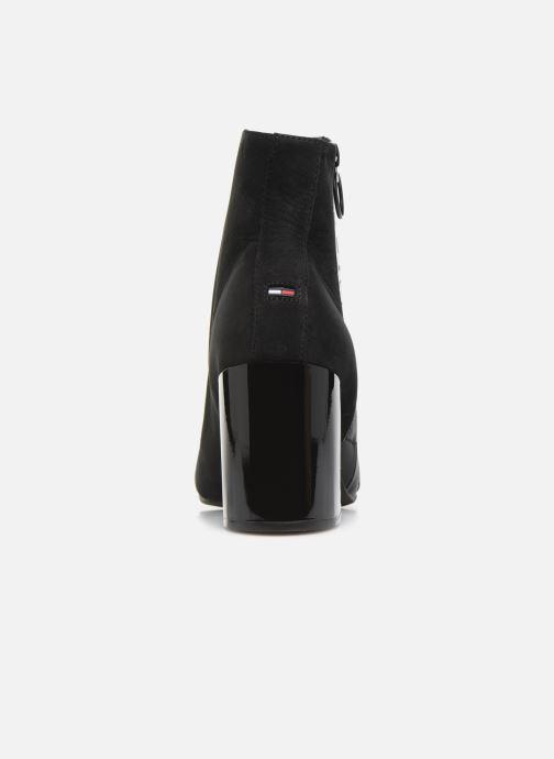 Bottines et boots Tommy Hilfiger TOMMY JEANS ZIP MID HEEL BOOT Noir vue droite