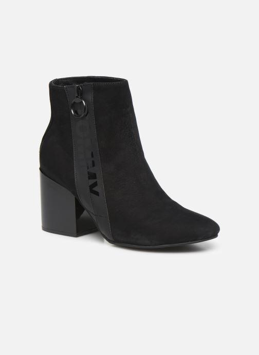Bottines et boots Tommy Hilfiger TOMMY JEANS ZIP MID HEEL BOOT Noir vue détail/paire