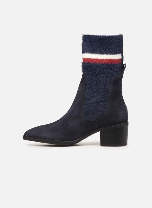 Bottines et boots Tommy Hilfiger COSY MID HEEL SUEDE BOOTIE Bleu vue face