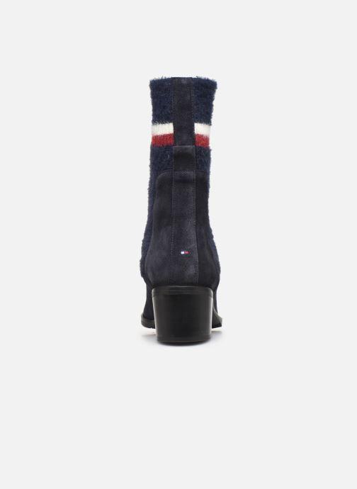 Bottines et boots Tommy Hilfiger COSY MID HEEL SUEDE BOOTIE Bleu vue droite