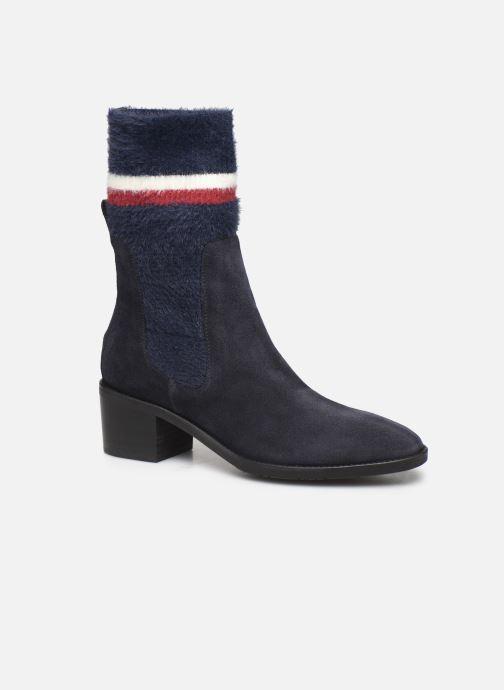 Bottines et boots Tommy Hilfiger COSY MID HEEL SUEDE BOOTIE Bleu vue détail/paire