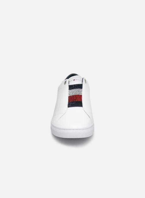 Sneakers Tommy Hilfiger CRYSTAL LEATHER SLIP ON SNEAKER Wit model