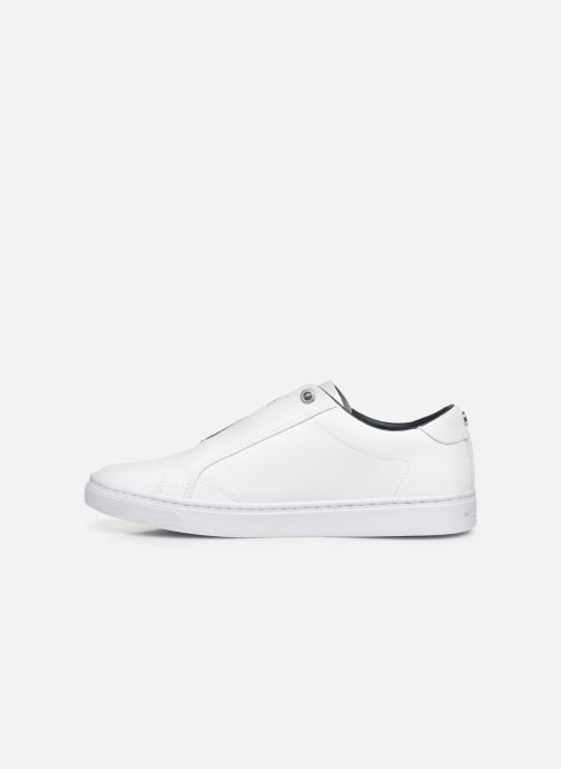 Sneakers Tommy Hilfiger CRYSTAL LEATHER SLIP ON SNEAKER Wit voorkant