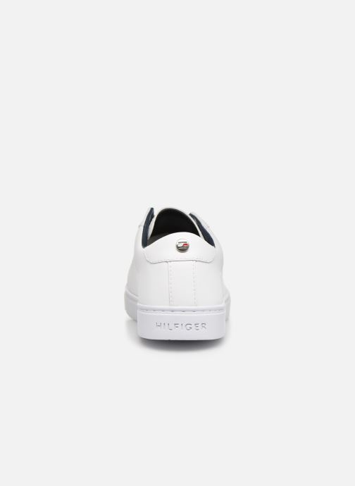 Sneakers Tommy Hilfiger CRYSTAL LEATHER SLIP ON SNEAKER Wit rechts