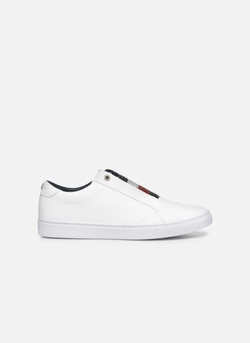 Sneakers Tommy Hilfiger CRYSTAL LEATHER SLIP ON SNEAKER Wit achterkant