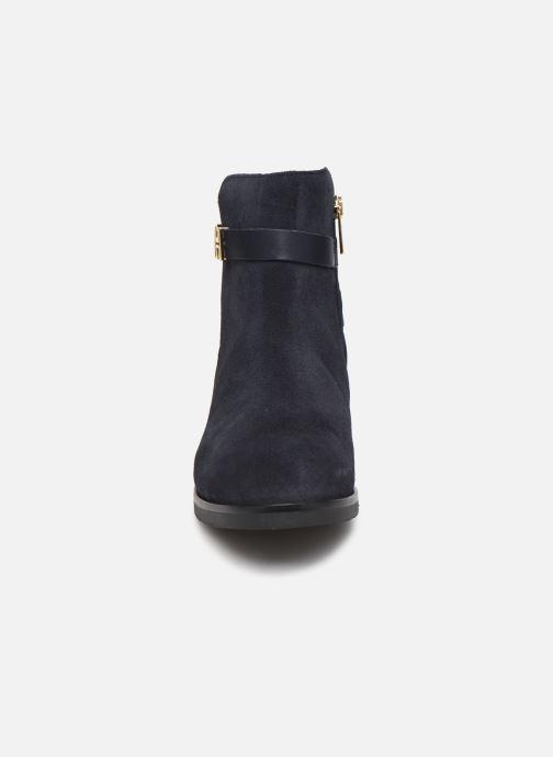 Stiefeletten & Boots Tommy Hilfiger TH HARDWARE FLAT BOOTIE blau schuhe getragen