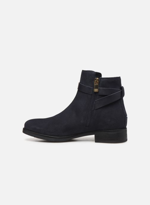 Bottines et boots Tommy Hilfiger TH HARDWARE FLAT BOOTIE Bleu vue face
