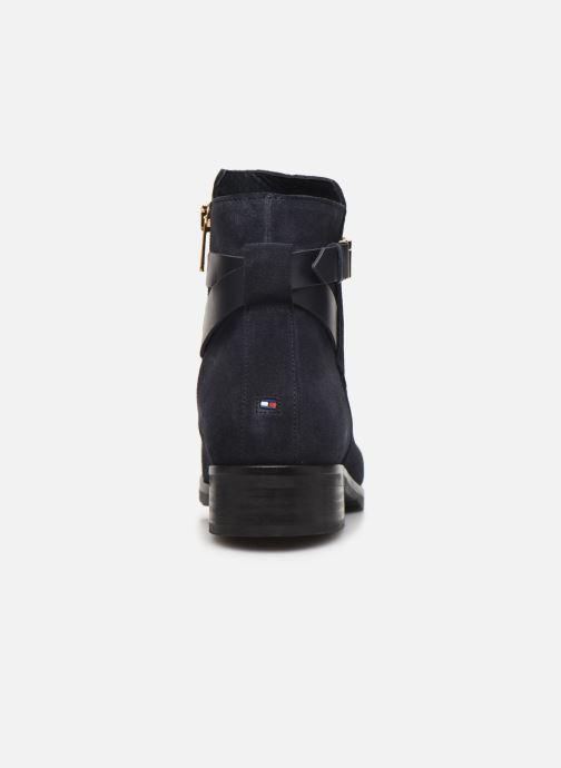 Boots en enkellaarsjes Tommy Hilfiger TH HARDWARE FLAT BOOTIE Blauw rechts